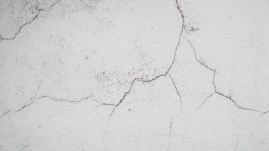 concreto com fissura